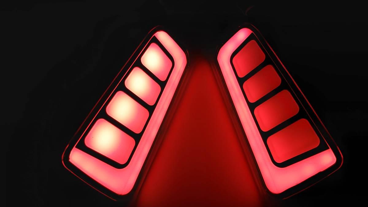 スモーク 流れる ファイバー LED リフレクター リアバンパー ライト ランプ シーケンシャルウインカー アルファード30 ヴェルファイア30 _画像3