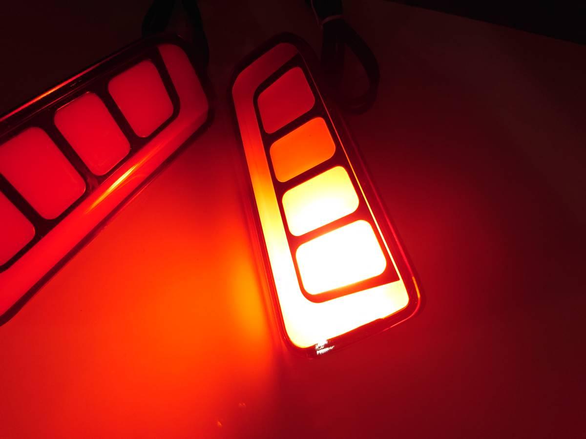 スモーク 流れる ファイバー LED リフレクター リアバンパー ライト ランプ シーケンシャルウインカー アルファード30 ヴェルファイア30 _画像6
