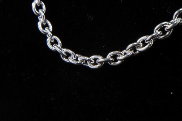 シルバー 925 silver SV925 ペンダント チェーン ネックレスチェーン アズキ スターリングシルバー 50cm 17g 新品 未使用 刻印有_画像4