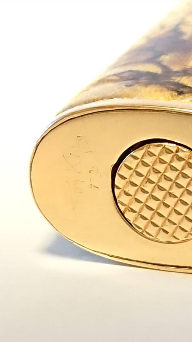 《期間限定価格》【希少】Royking ロイキング 18金 18K 七宝 アウタージャケット ヴィンテージ ガスライター 装飾品_画像7
