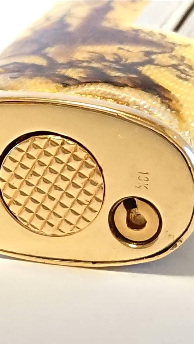 《期間限定価格》【希少】Royking ロイキング 18金 18K 七宝 アウタージャケット ヴィンテージ ガスライター 装飾品_画像8
