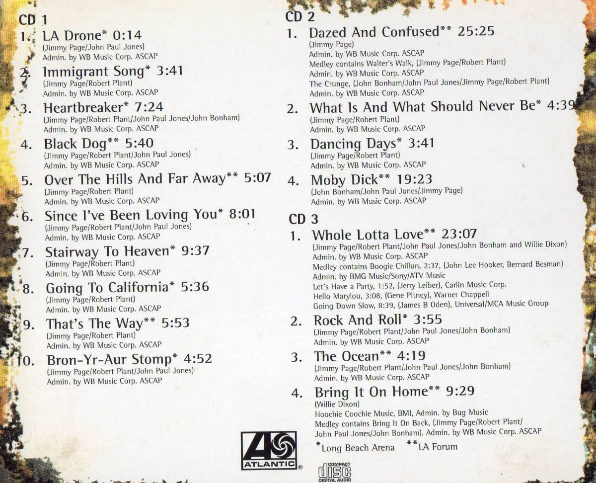 3CD★ Led Zeppelin / レッド・ツェッペリン ★ 伝説のライブ-HOW THE WEST WAS WON- ★送料込み_画像2