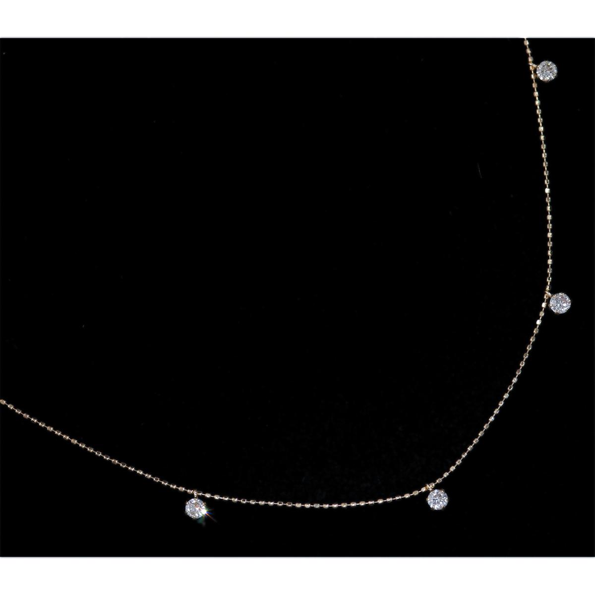 *NC2078【Lucky 7 Necklace】令和新作3年モデル! 天然上質ダイヤモンド0.50ct 最高級18金無垢ネックレス ブライダル!業者にも!