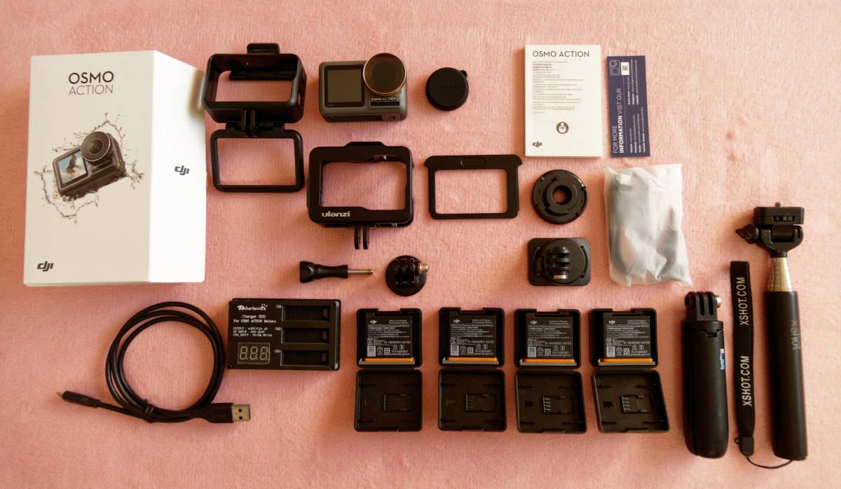 ★予備バッテリ3個などおまけ多數の豪華セット! : DJI製アクションカメラ : Osmo Action