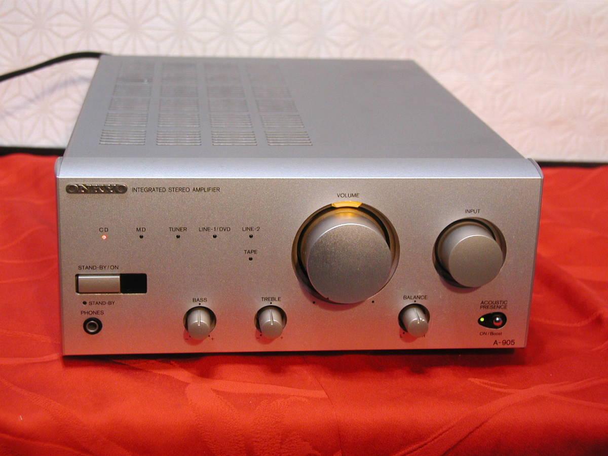 【パワフルな音】★◆ONKYO A-905、プリメインアンプ 当時定価30800円。動作良好★◆_良い音で再生。