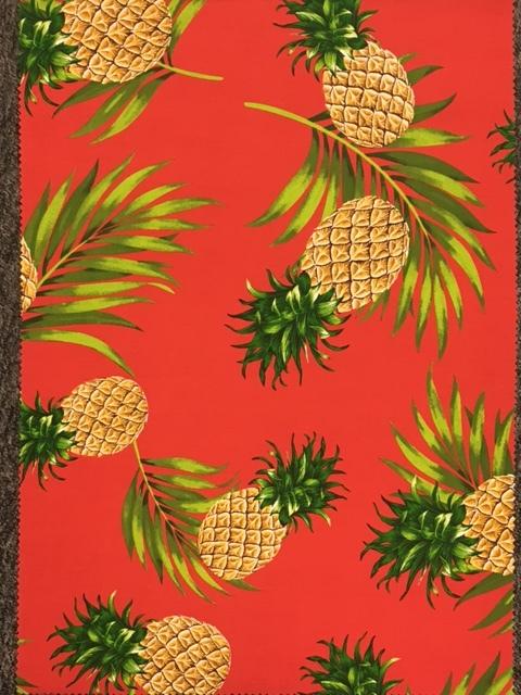 ハワイ ファブリック 生地 パイナップル レッド 4ヤード