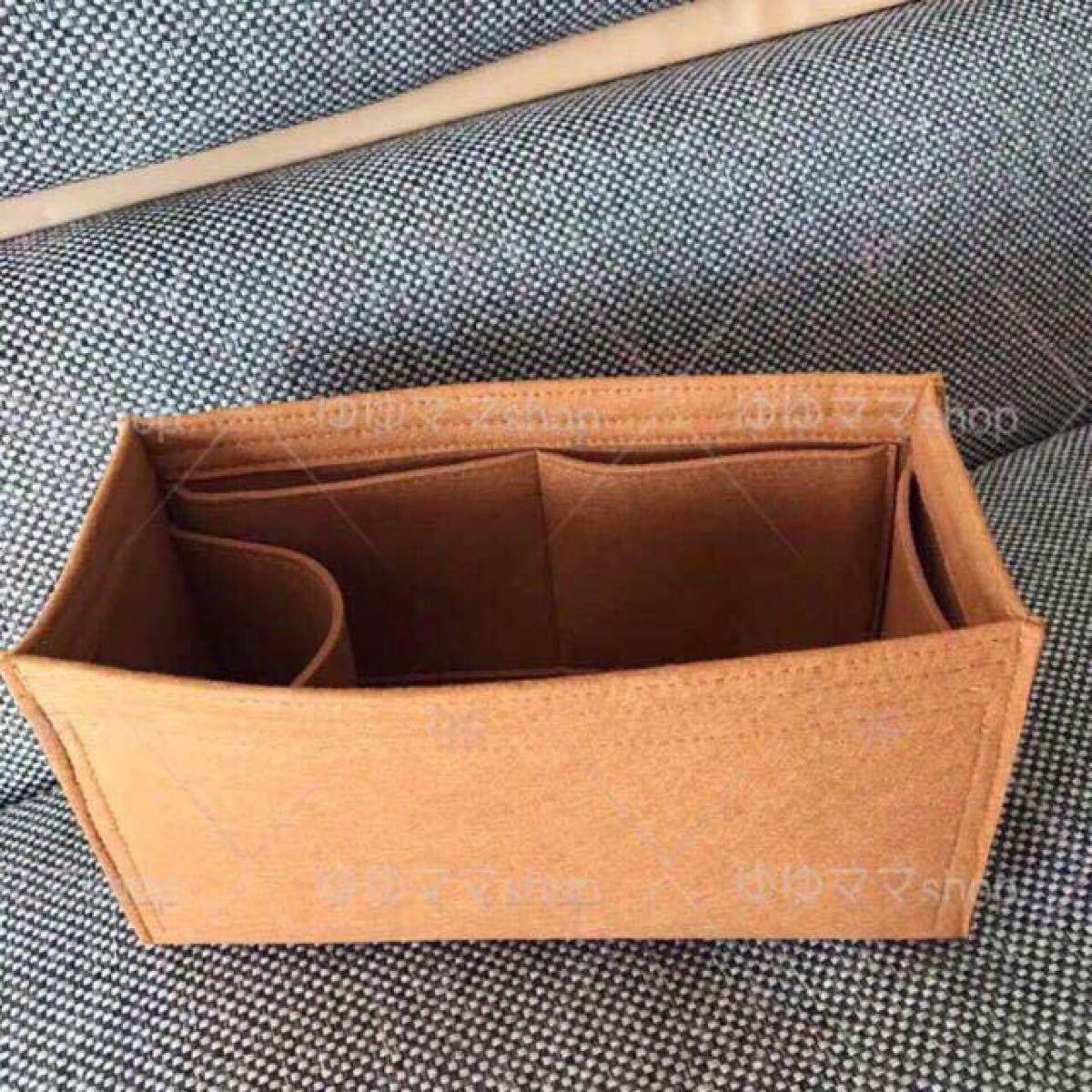 新品バッグインバッグ インナーバッグ ゴールド 35cm