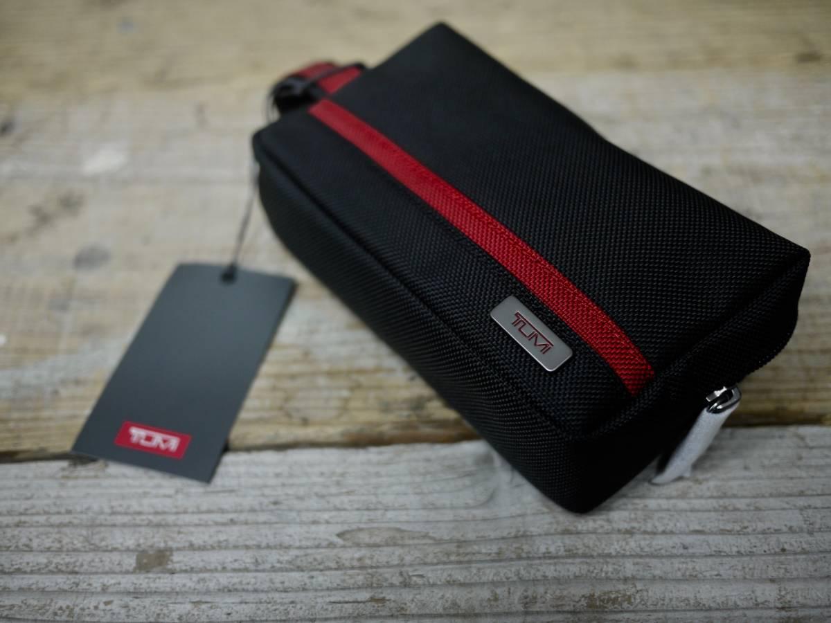 本物正規//バリスティックナイロン仕様 TUMI トゥミ セカンドバッグ/ポーチ Small Kit 新品 BLK/RED_画像3