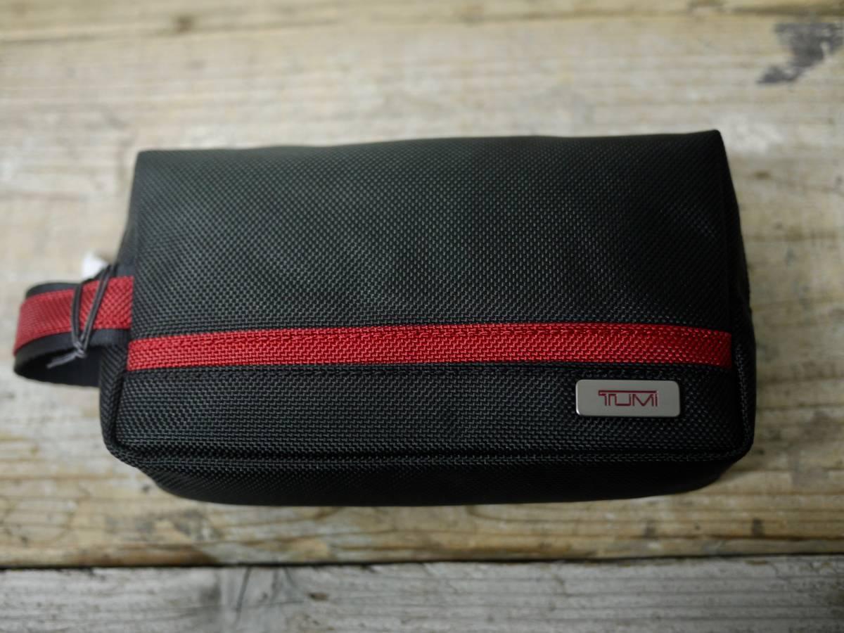本物正規//バリスティックナイロン仕様 TUMI トゥミ セカンドバッグ/ポーチ Small Kit 新品 BLK/RED