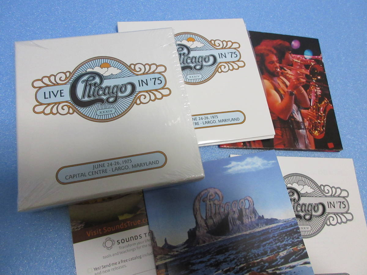 ★CHICAGO / LIVE IN '75★シカゴ 2CD BOX Rhino Handmade 輸入盤国内仕様 英文解説日本語訳付_CHICAGO / LIVE IN 75
