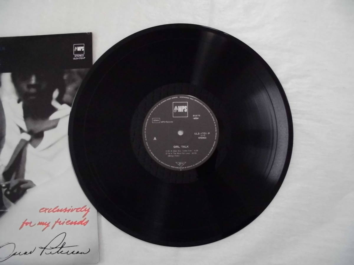 良盤屋 J-1381◆LP◆ULS-1701-P Jazz オスカー・ピーターソン  Oscar Peterson Girl Talk 1968 新古品 送料380_画像8