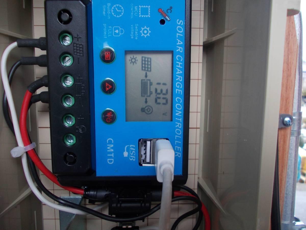 電源不要の充電器、TYPE B 12V-24Vソーラー充電器(365日つないでおくだけでバッテリー上がりありません。面倒な延長コード不要です)_12V 充電電圧