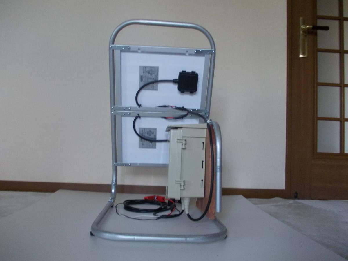 電源不要の充電器、TYPE B 12V-24Vソーラー充電器(365日つないでおくだけでバッテリー上がりありません。面倒な延長コード不要です)_裏面