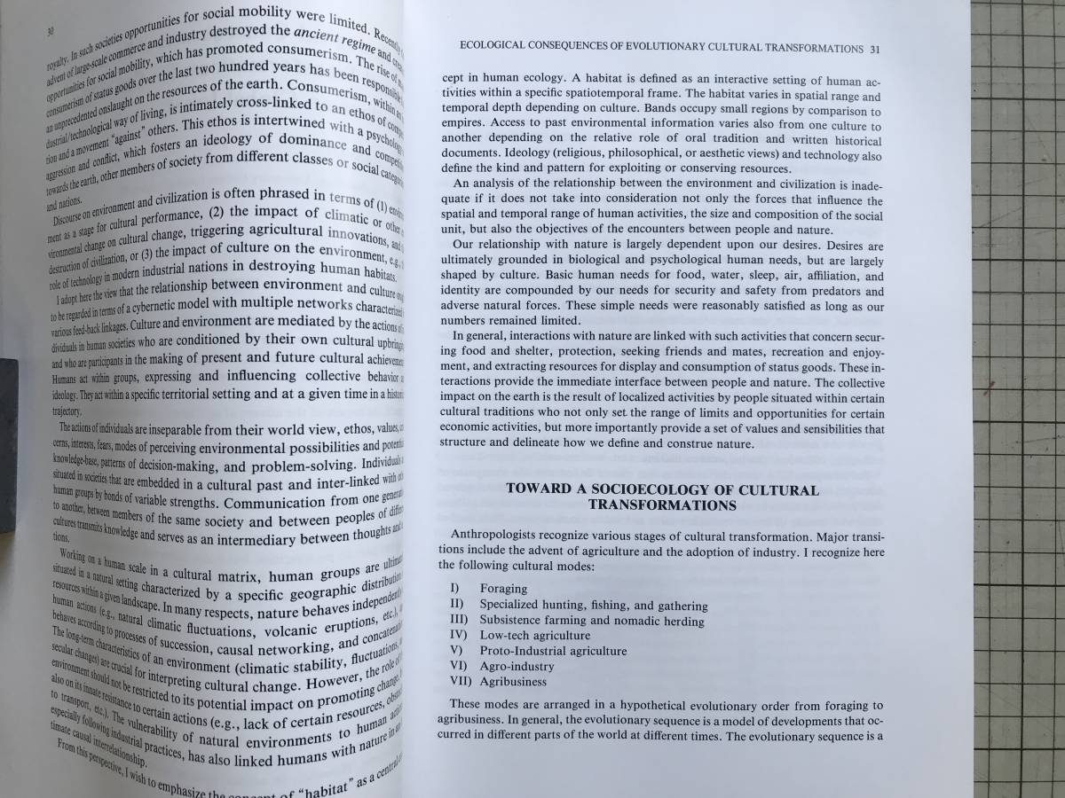 『Nature and Humankind in the Age of Environmental Crisis/INTERNATIONAL SYMPOSIUM6 1992』国際日本文化研究センター 1995年刊 05218_画像4