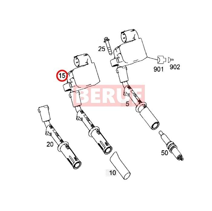 メルセデスベンツ イグニッションコイル HELLA製 GLKクラス X204 GLK300 GLK350 M276 V6 M278 V8 2769060501_画像2