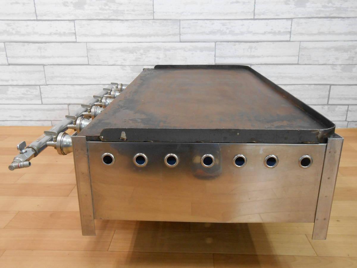 ~お好み焼き・もんじゃ焼き~【タケウチ】鉄板焼き器/グリドル (6列バーナー・プロパンガス)