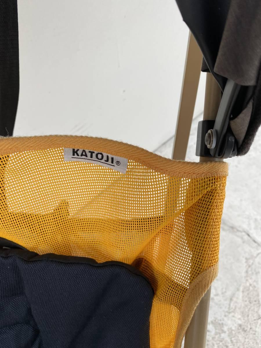 KATOJI製、A型ベビーカーGTS、黒&黄色、日除け付き美品中古品_画像3
