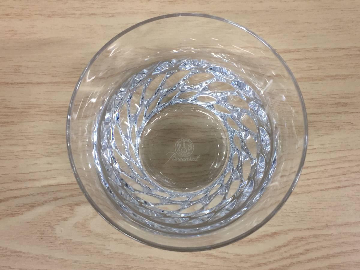 5565★Baccarat バカラ ロックグラス グローリア タンブラー クリスタルガラス 未使用保管品_画像3