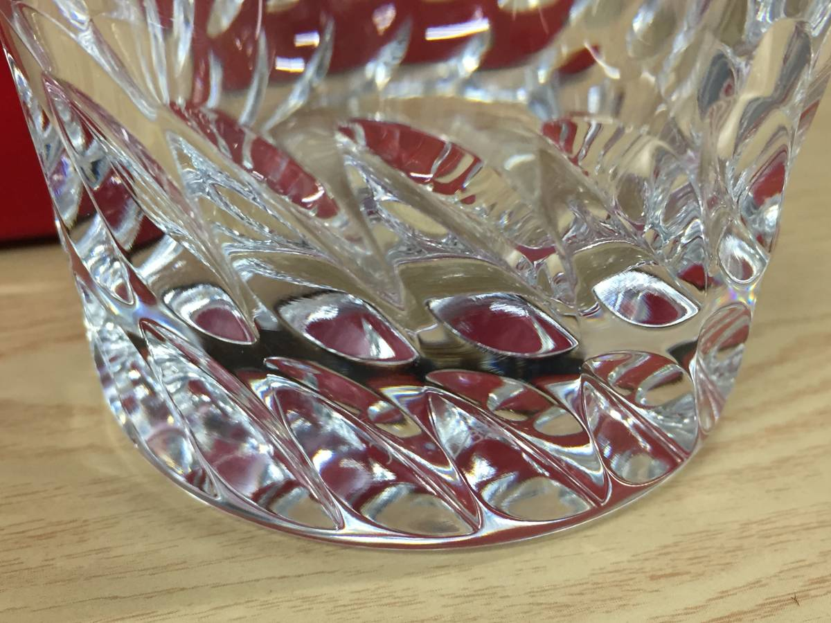 5565★Baccarat バカラ ロックグラス グローリア タンブラー クリスタルガラス 未使用保管品_画像8