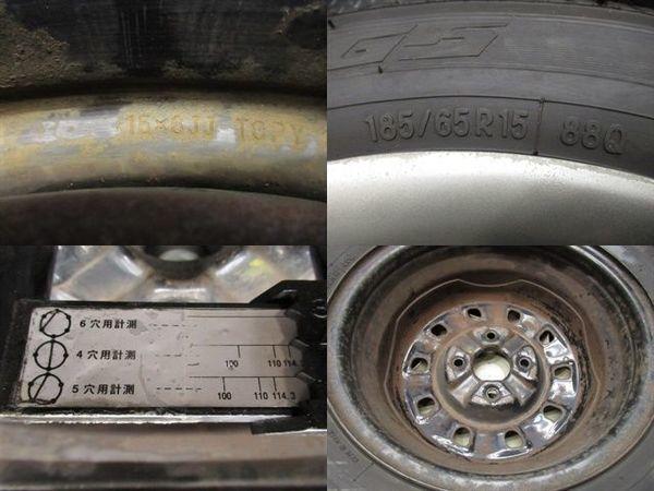 ●TOYO トーヨー ガリットG5 185/65R15 18年 バリ山 スタッドレス タイヤ 4本 日産 スチールホイール付き ウイングロード リバディ_画像2