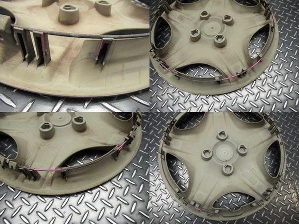 ●TOYO トーヨー ガリットG5 185/65R15 18年 バリ山 スタッドレス タイヤ 4本 日産 スチールホイール付き ウイングロード リバディ_ツメ破損(ピンクの所)