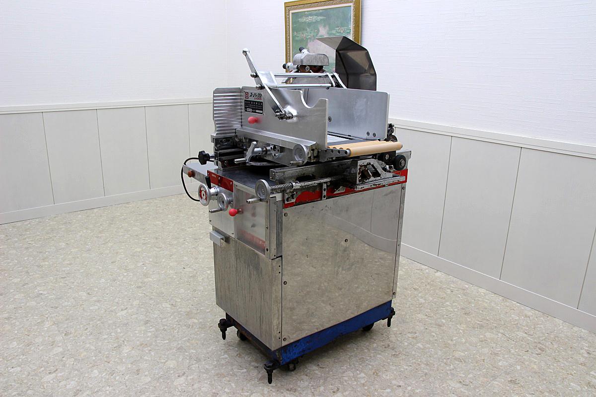 渡辺鉄工 業務用 ミートスライサー 動力 精肉 プロ用 整備品 三相200V スーパー300 WM-RS 検:南常_画像3