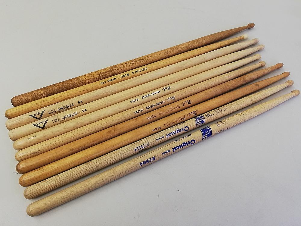 【ドラムスティック10本セット】 『Pearl / パール』 『VATER / ベーター』 『TAMA / タマ』 打楽器 初心者、練習用に