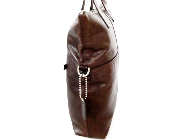 即決★COACH★オールレザートートバッグ オールドコーチ メンズ 焦茶 本革 ハンドバッグ 本皮 かばん 通勤 トラベル 鞄 カバン レディース_画像3