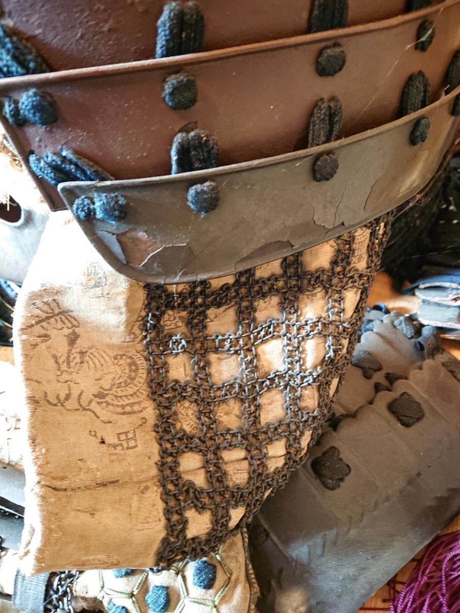 江戸時代 中期 保証 甲冑 鎧 当世具足 鎧兜 一式 鎧櫃 状態良好 _画像6