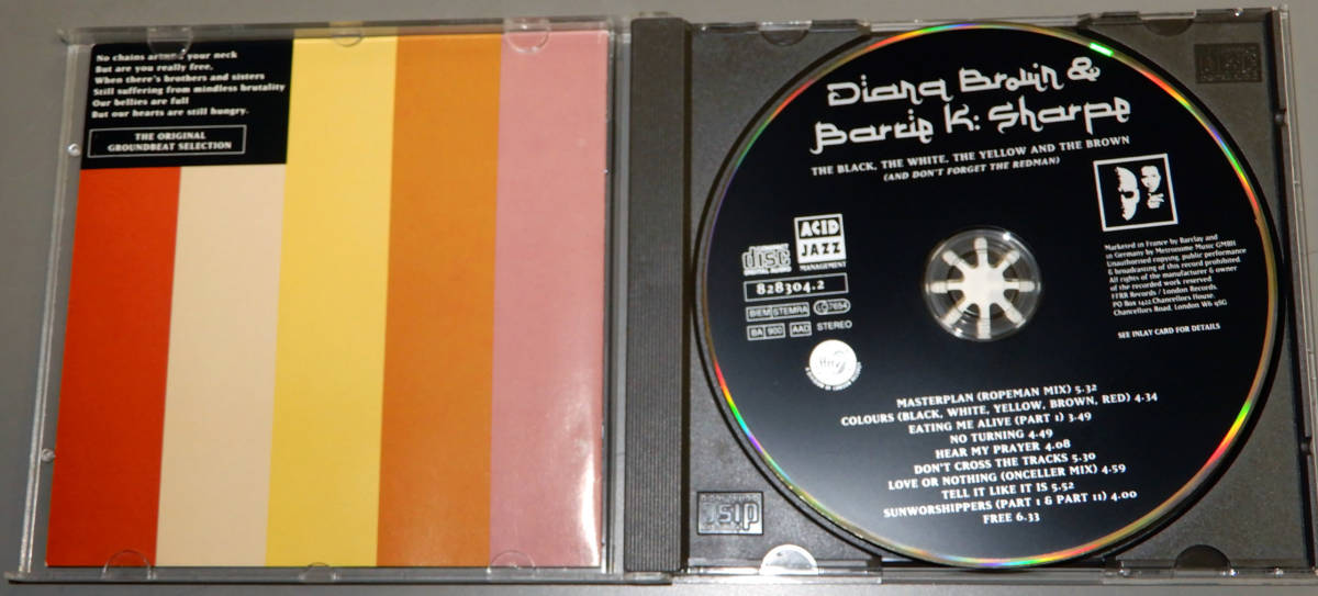 ▲DIANA BROWN & BARRIE K. SHARPE▲▲THE BLACK,THE WHITE,THE・・▲▲輸入盤▲ACID JAZZ▲_画像2
