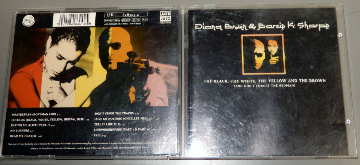 ▲DIANA BROWN & BARRIE K. SHARPE▲▲THE BLACK,THE WHITE,THE・・▲▲輸入盤▲ACID JAZZ▲_画像1