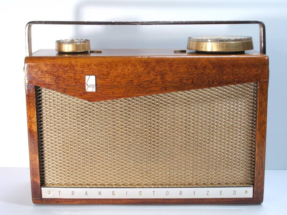 貴重なソニー初期の木製トランジスタラジオ「SONY TR-72」動作品■海外輸出の第1号モデル!