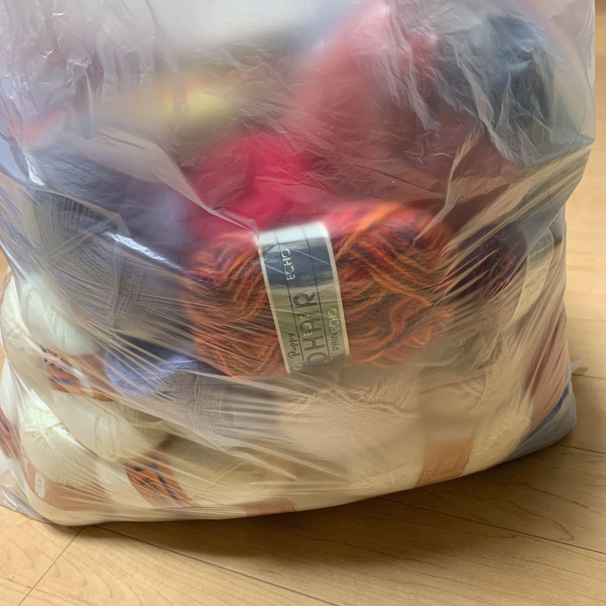 送料込!140サイズ!毛糸 まとめて まとめ売り 大量 編み針 かぎ針 ジャンク品 経年保管品 中古 編み物 手編み _画像3