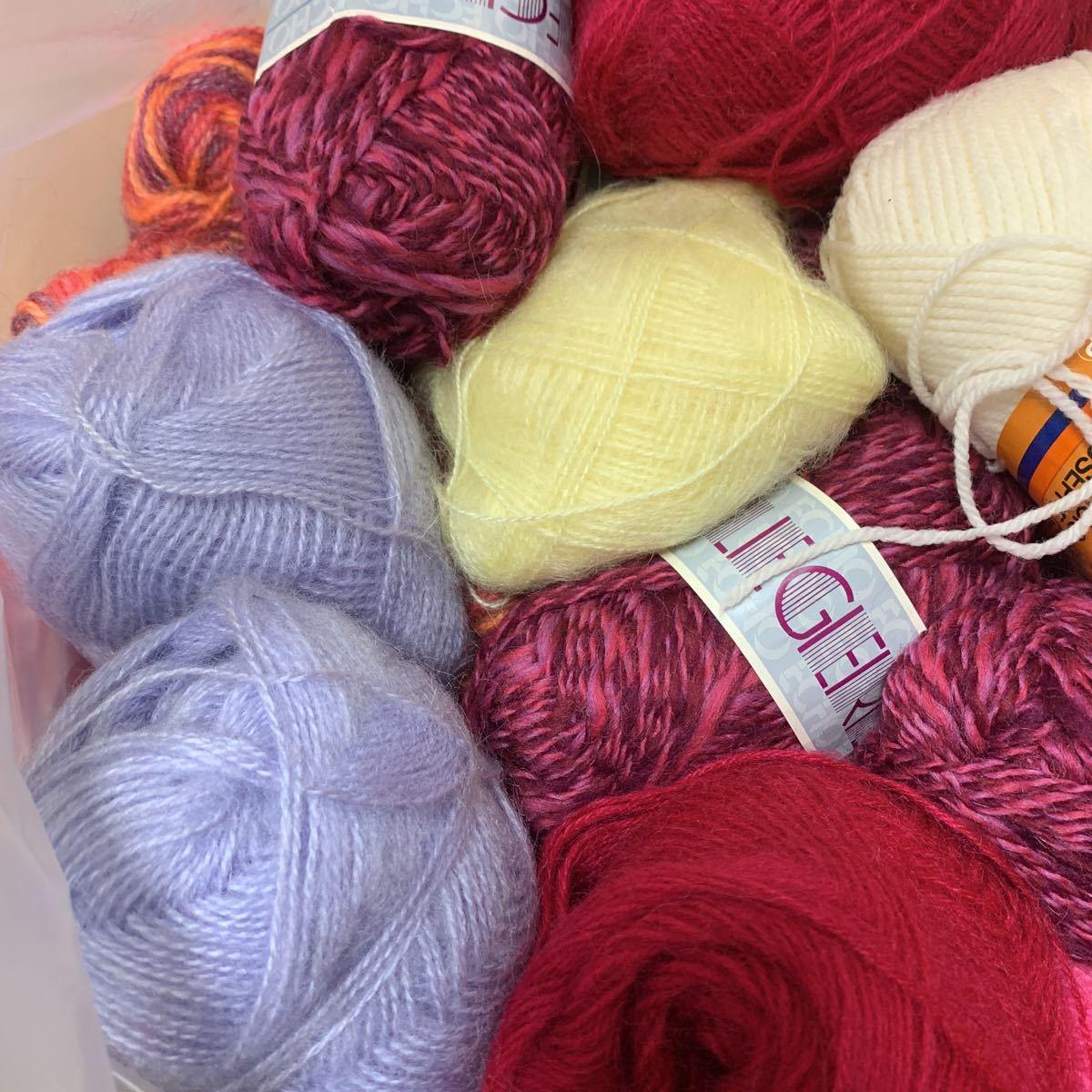 送料込!140サイズ!毛糸 まとめて まとめ売り 大量 編み針 かぎ針 ジャンク品 経年保管品 中古 編み物 手編み _画像8