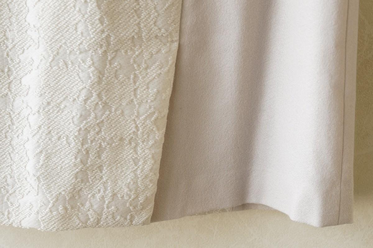 ★送料無料!! ガリャルダガランテ*ジャガード切替デザインウールスカート オフホワイト/サイズ1* 古着のgplus広島 2001t2 _画像5