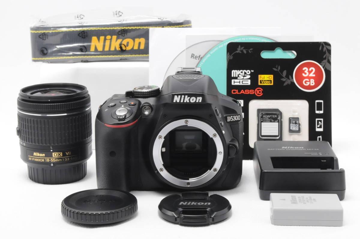 ■人気機種・使用感少■ニコン Nikon D5300 標準ズームレンズセット【付属品多数・32GB SDカード付】 #0168K01Y504J14