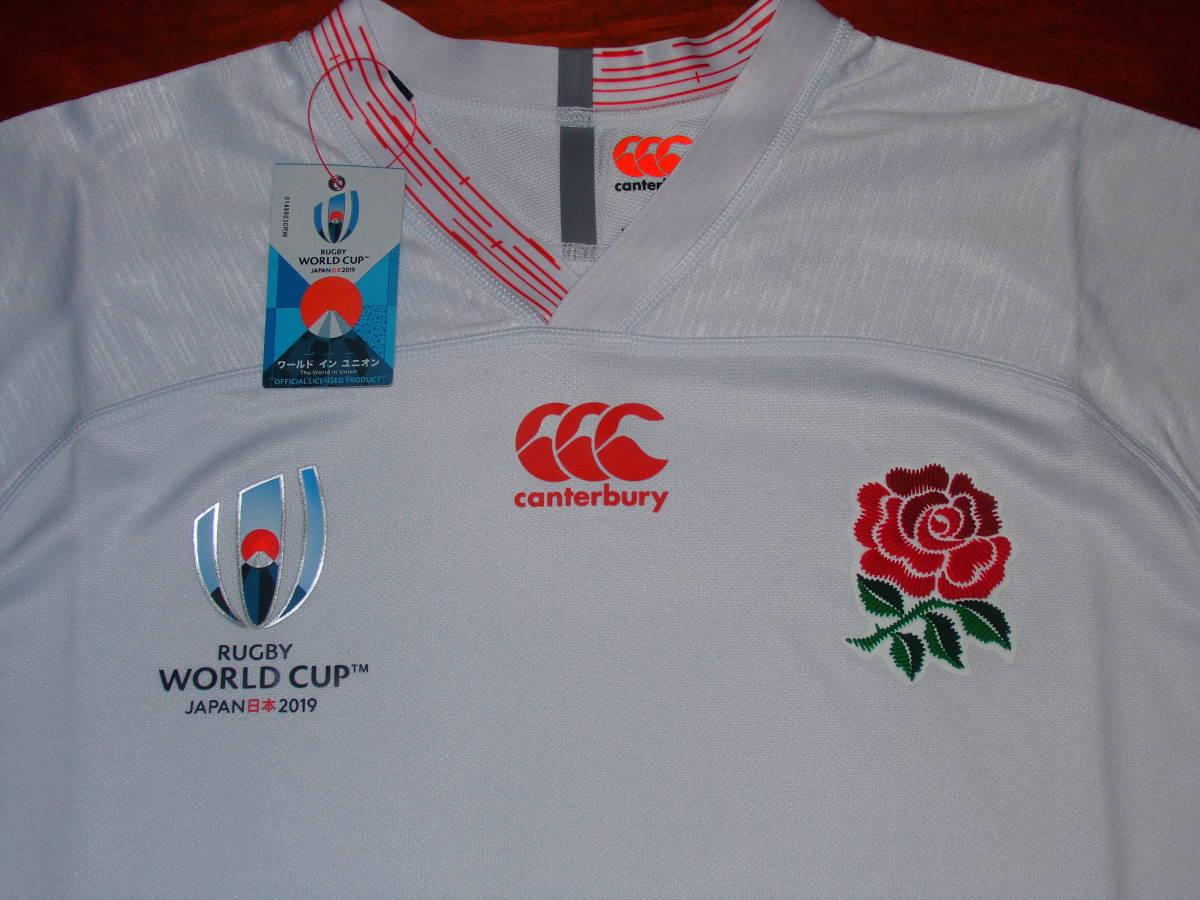 海外XL★RWC2019★England(イングランド代表) Home Pro Shirt(ホーム プロ ジャージ)★canterbury/カンタベリー★ラグビーワールドカップ_画像2