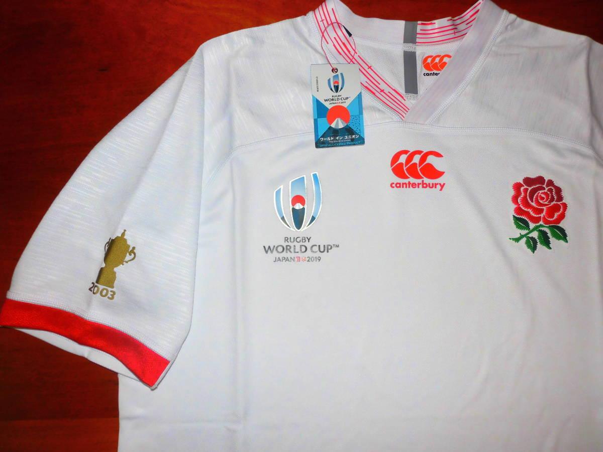 海外XL★RWC2019★England(イングランド代表) Home Pro Shirt(ホーム プロ ジャージ)★canterbury/カンタベリー★ラグビーワールドカップ_画像4