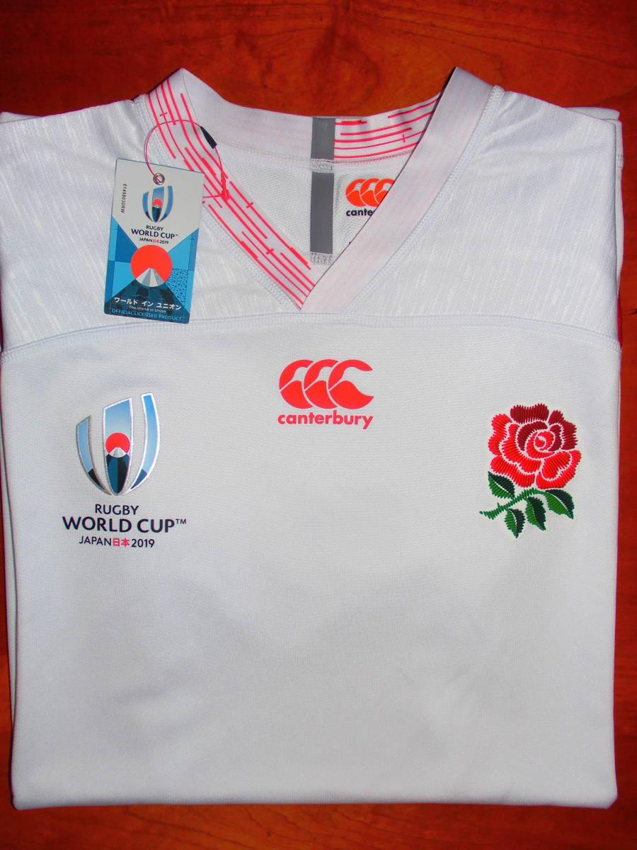 海外XL★RWC2019★England(イングランド代表) Home Pro Shirt(ホーム プロ ジャージ)★canterbury/カンタベリー★ラグビーワールドカップ_画像5