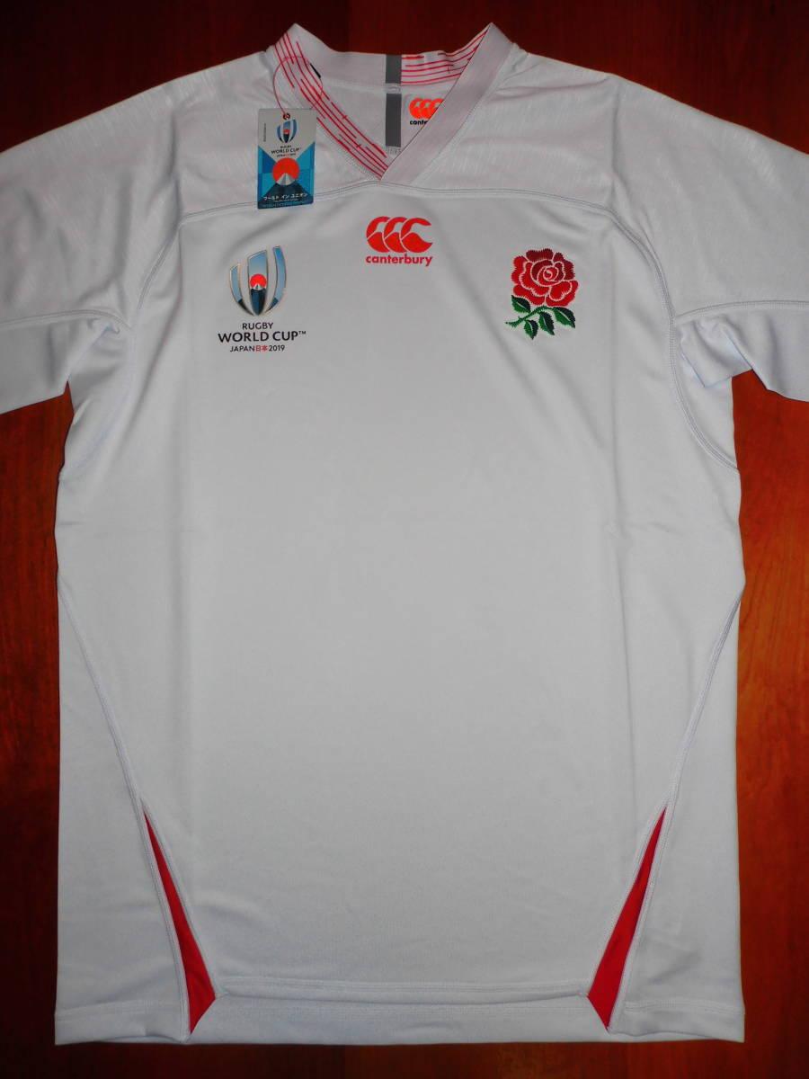 海外XL★RWC2019★England(イングランド代表) Home Pro Shirt(ホーム プロ ジャージ)★canterbury/カンタベリー★ラグビーワールドカップ