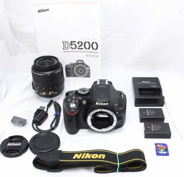 【超美品 8097ショット?豪華セット】Nikon ニコン D5200 AF-S 18-55mm VR
