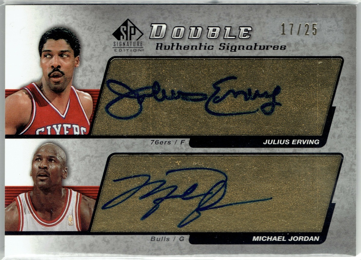 MICHAEL JORDAN 25枚限定直筆サイン2004 SP SIGNATURE AUTO 17/25 JULIUS ERVING直書き!