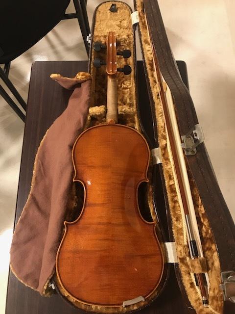 バイオリン イタリア製オールドバイオリン ラベルド「Spirito Sorsana」4/4 定価75,000円のARCOS製弓付属!オークション限定最終値下げ_画像2