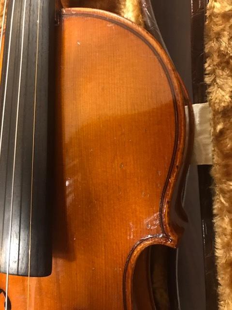 バイオリン イタリア製オールドバイオリン ラベルド「Spirito Sorsana」4/4 定価75,000円のARCOS製弓付属!オークション限定最終値下げ_画像4