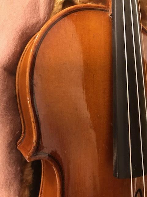 バイオリン イタリア製オールドバイオリン ラベルド「Spirito Sorsana」4/4 定価75,000円のARCOS製弓付属!オークション限定最終値下げ_画像6