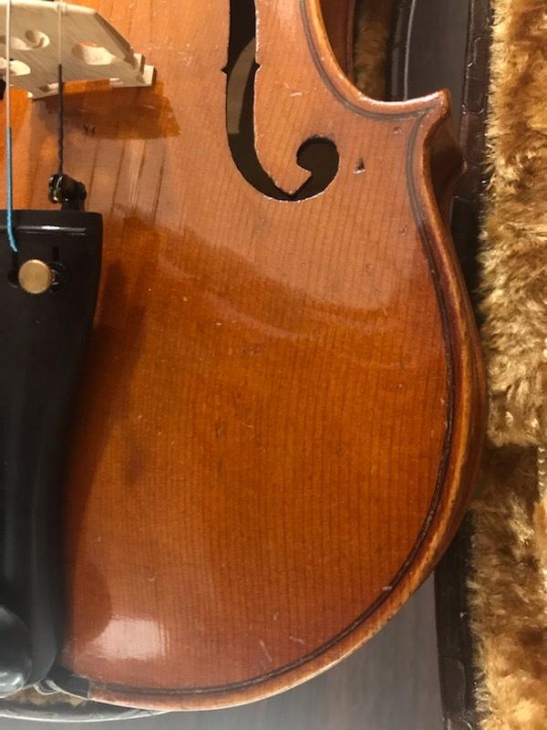 バイオリン イタリア製オールドバイオリン ラベルド「Spirito Sorsana」4/4 定価75,000円のARCOS製弓付属!オークション限定最終値下げ_画像5
