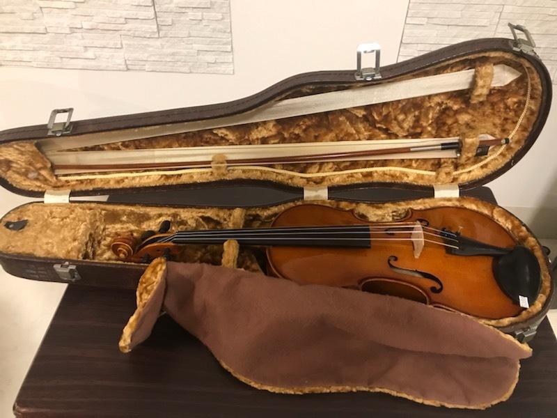 バイオリン イタリア製オールドバイオリン ラベルド「Spirito Sorsana」4/4 定価75,000円のARCOS製弓付属!オークション限定最終値下げ_画像3