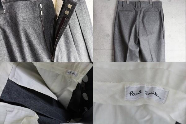 新品 ポールスミス 上質厚手 ウール フランネル スラックス/XXL/灰/定価3万パンツ2_画像3