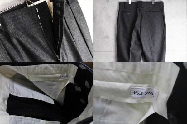新品 ポールスミス 上質厚手 ウール フランネル スラックス/XXL/濃灰/定価3万パンツ2_画像3