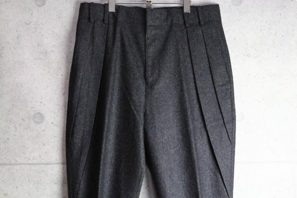 新品 ポールスミス 上質厚手 ウール フランネル スラックス/XXL/濃灰/定価3万パンツ2_画像2